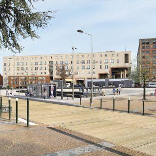 Evry-Courcouronnes - Place de la Commune (intention d